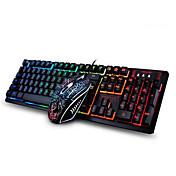 ゲーミングマウス 人間工学に基づいたマウス USB 2400 ゲーミングキーボード エルゴノミックキーボード マルチメディアキーボード USB マルチカラーバックライト