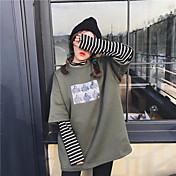 フェイク2縞模様の長袖のセーターをヘッジサイン〜2017年春韓国原宿スタイル緩いステッチ