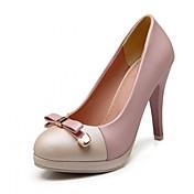 Mujer Zapatos PU Verano Otoño Confort Innovador Tacones Tacón Stiletto Dedo redondo Pajarita Para Casual Vestido Fiesta y Noche Azul Rosa