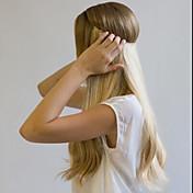 22 100%本物の人間の髪の目に見えないワイヤーワンピース秘密の人間の髪のエクステンション80g