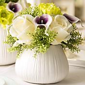 1 ブランチ バラ カラーリリー テーブルトップフラワー 人工花