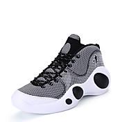 Hombre Zapatillas de Atletismo Baloncesto Confort Punto Cuero Patentado Primavera Otoño Deportivo Casual Combinación Tacón PlanoNegro