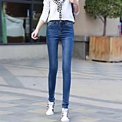 新しい春2017女性に署名' sのジーンズ女性のズボンの足は、野生の薄いスリム鉛筆のズボンでした