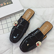 Mujer-Tacón Plano-Confort-Zuecos y pantuflas-Informal-PU-Negro