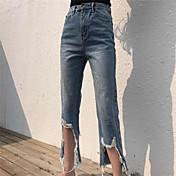 古いバーホールを行うための新しい本物のショットは9点正味の薄い摩耗白いジーンズの潮でした