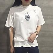 本物のショット韓国の研究所風のゆるい穴の原宿印刷ヘッジ半袖のTシャツのシャツ女子学生のリング