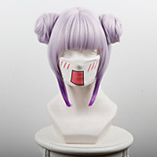 Perucas de Cosplay Fantasias Fantasias Púrpura Rosa Médio Anime Perucas de Cosplay 35 CM Fibra Resistente ao Calor