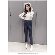 Mujer Clásico Media cintura Rígido Pantalones Pantalones,Otros N/A Primavera Otoño