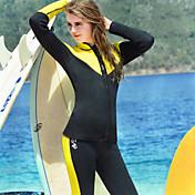 HISEA® 女性用 タッパー/ウェットジャケット 防水 保温 耐久性 滑らか 耐衝撃性の 潜水服 長袖 ダイビングスーツ - 潜水 サーフィン 冬 春 秋 ファッション