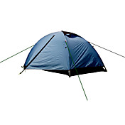 2人 テント ダブル キャンプテント 1つのルーム テント 防湿 通気性 堅牢性 防水 携帯用 速乾性 抗紫外線 防雨 防塵 抗虫 折り畳み式 静電気防止 ビデオ圧縮 超軽量(UL) 蚊・虫除け 抗菌 のために ハイキング キャンピング 屋外 >3000mm アルミ ナイロン