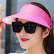Mujer Verano Casual Lino Sombrero para el sol,Un Color