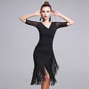 ラテンダンス ワンピース 女性用 演出 プロミックス 1個 五分袖 ナチュラルウエスト ドレス