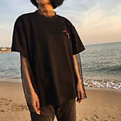 Marca de la marea estilo harajuku firmar corea Hong Kong coreano de manga corta camiseta de la tendencia de los hombres y mujeres