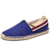メンズ 靴 キャンバス 春 夏 エスパドリーユ ローファー&スリップアドオン 用途 カジュアル ベージュ レッド ブルー