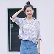 2017夏の段落韓国の気質のターンVネック曲がった裾のバットスリーブのシャツ通気性の綿の結び目