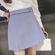 Mujer Simple Casual/Diario Mini Faldas,Línea A Verano Un Color