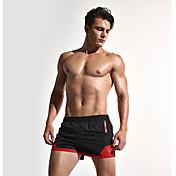 Hombre Casual Activo Sensual Chic de Calle Tiro Medio Rígido Corte Ancho Shorts Pantalones,Retazos Poliéster Verano Todas las Temporadas