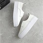 MujerSuelas con luz-Zapatos de taco bajo y Slip-Ons-Informal-PU-Blanco