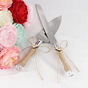 nuevos servidores de torta de cuerda de cáñamo natural de estilo recepción de la boda hermosa