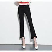レディース ストリートファッション ハイライズ ブーッカット strenchy ジーンズ パンツ ゼブラプリント