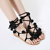 Mujer Zapatos Algodón Primavera Verano Suelas con luz Zapatos de taco bajo y Slip-On para Casual Negro
