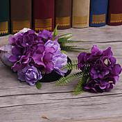 Tecido cabeça-casamento ocasião especial flores ao ar livre pino de cabelo 1 peça