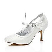 Mujer-Tacón Stiletto-Confort Zapatos del club Zapatos Dyeable-Zapatos de boda-Boda Exterior Oficina y Trabajo Fiesta y Noche Vestido-Seda-