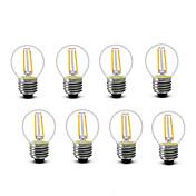 SHENMEILE 2W 200 lm E14 E27 Bombillas de Filamento LED G45 2 leds COB Decorativa Blanco Cálido AC220 AC230 AC240