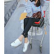 Mujer Zapatillas de deporte Zapatos con luz Goma Verano Casual Tacón Plano Blanco Plano