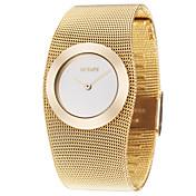 ASJ Mujer Reloj de Moda Reloj de Pulsera Reloj de Vestir Japonés Cuarzo Aleación Cobre Banda Lujo Elegant Dorado