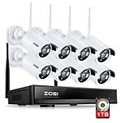 960P NVR zosi®8ch 8pcs 1,3 MP kit de vigilancia de seguridad en el hogar a prueba de agua la cámara del IP del wifi con 1 TB