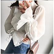 レディース カジュアル/普段着 シャツ,シンプル クルーネック ソリッド その他 長袖