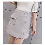 Mujer Simple Noche Mini Faldas,Línea A Verano Un Color