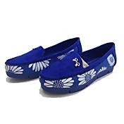 Mujer Zapatos de taco bajo y Slip-Ons Confort Tejido Primavera Otoño Casual Paseo Confort Flor Tacón Plano Azul Menos de 2'5 cms