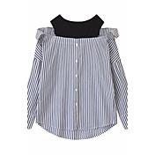 レディース カジュアル/普段着 シャツ,活発的 ラウンドネック ストライプ その他 長袖