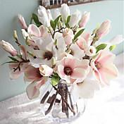 15 pulgadas 1 rama flores magnolia seda artificial decoración del hogar