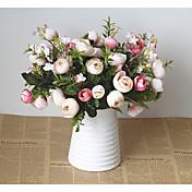 Flores Artificiales 1 Rama Estilo europeo Gardenia Flor de Mesa