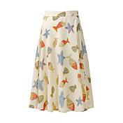 Mujer Sencillo Casual/Diario Maxi Faldas Color puro Verano Estampado