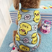 Gato Cachorro Camiseta Colete Roupas para Cães Casual Animal Azul Rosa claro