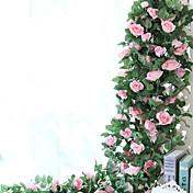 1 Rama Seda Rosas Flor de Pared Flores Artificiales