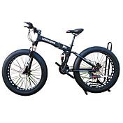 Bici de Nieve Bicicletas plegables Ciclismo 21 Velocidad 26 pulgadas/700CC 40 mm SHIMANO 51-7 Doble Disco de Freno Suspensión por Muelle