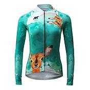 Cyklodres Dámské Dlouhý rukáv Jezdit na kole Dres Rychleschnoucí Prodyšné Polyester Módní Jaro Léto Podzim