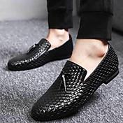 メンズ 靴 化繊 秋 冬 ローファー&スリップアドオン 用途 ブラック ブルー