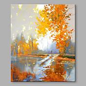 手描きの 抽象的な風景画 現代風 抽象画 1枚 キャンバス ハング塗装油絵 For ホームデコレーション
