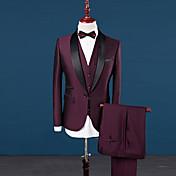 男性用 プラスサイズ スーツ スリム ソリッド パッチワーク