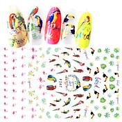 1 Adesivos para Manicure Artística Meninas e Jovens Mulheres Efeito 3D Adesivo maquiagem Cosméticos Designs para Manicure