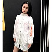 レディース 日常 夏 ジャケット,カジュアル フード付き カラーブロック レギュラー ポリエステル 長袖