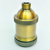 e27 accesorio de iluminación de alta calidad del hilo corto del sostenedor de la lámpara del oro e27
