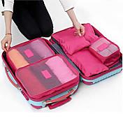 6セット 旅行かばん パッキングキューブ 旅行かばんオーガナイザー 防水 防塵 折り畳み式 耐久 小物収納用バッグ クロス ブラジャー オックスフォードクロス トラベル