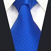 メンズ オールシーズン ヴィンテージ キュート パーティー オフィス カジュアル シルク 純色 ネクタイ